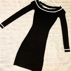 GUESS Ladies Black Knitted Sweater Dress